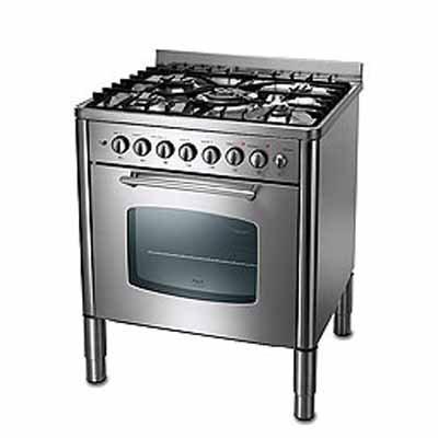 Rex Rx Asm It Acciaio With Cucina A Gas 5 Fuochi.